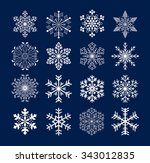 set of snowflakes  | Shutterstock .eps vector #343012835