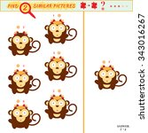 game puzzles find similar image ... | Shutterstock . vector #343016267