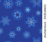 snowflake pattern. seamless...   Shutterstock .eps vector #343018601