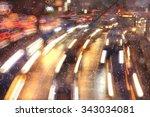 Night Traffic Car Road Blur...