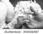 photo closeup of newlyweds... | Shutterstock . vector #343036487