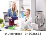 young professional designers...   Shutterstock . vector #343036685