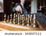 businessman playing chess ... | Shutterstock . vector #343037111