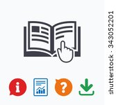 instruction sign icon. manual... | Shutterstock .eps vector #343052201