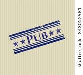 pub rubber stamp | Shutterstock .eps vector #343052981