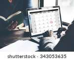 calendar planner organization...   Shutterstock . vector #343053635