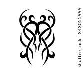tattoo tribal vector design... | Shutterstock .eps vector #343055999