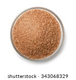 top view of cane sugar bowl...   Shutterstock . vector #343068329