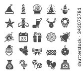 christmas icon set  vector... | Shutterstock .eps vector #343072781