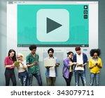 play button audio video media