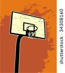 Basketball Backboard On The...
