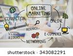 online marketing digital... | Shutterstock . vector #343082291