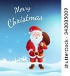vector christmas card with... | Shutterstock .eps vector #343085009