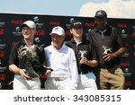Small photo of WINNING TEAM - NOVEMBER 15: Ronan Keating, Gary Player, Dr. Hans-Walter Peters and Sello Moloko winners Gary Player Charity Invitational Golf Tournament on November 15, 2015, Sun City, South Africa.