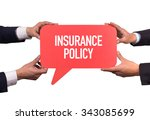 two men holding red speech...   Shutterstock . vector #343085699