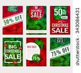 christmas sale. set of banners  ... | Shutterstock .eps vector #343086431