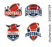 american football logo template ... | Shutterstock .eps vector #343088759