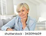portrait of senior woman... | Shutterstock . vector #343094609