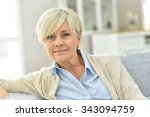 portrait of senior woman...   Shutterstock . vector #343094759