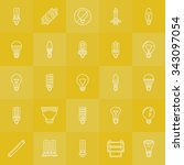 light bulbs icons set   vector... | Shutterstock .eps vector #343097054