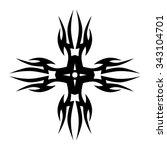 tribal tattoo design  vector... | Shutterstock .eps vector #343104701