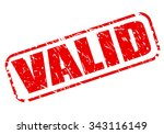 valid red stamp text on white | Shutterstock .eps vector #343116149