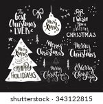 big collection of handdrawn... | Shutterstock .eps vector #343122815