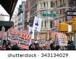 new york city   november 22... | Shutterstock . vector #343134029