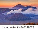 bromo tengger semeru national...   Shutterstock . vector #343140527