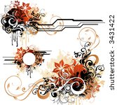 floral design elements | Shutterstock .eps vector #3431422