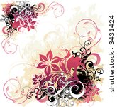 floral background | Shutterstock .eps vector #3431424