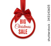 big christmas sale  round... | Shutterstock .eps vector #343143605