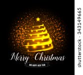 merry christmas and happy new... | Shutterstock .eps vector #343149665