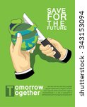 save for the future | Shutterstock .eps vector #343153094