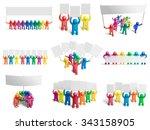 plasticine demonstrators... | Shutterstock . vector #343158905
