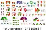 logo huge mega collection ... | Shutterstock .eps vector #343160654