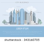 great city map creator. outline ... | Shutterstock .eps vector #343160705