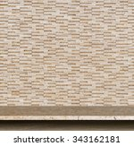 empty top of natural stone... | Shutterstock . vector #343162181