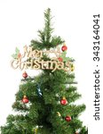 christmas tree on white... | Shutterstock . vector #343164041