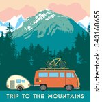 retro print trips to the... | Shutterstock .eps vector #343168655