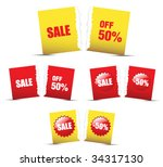 set of shopping signs and... | Shutterstock .eps vector #34317130