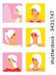blondes | Shutterstock . vector #3431747