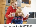 busy mother coping with...   Shutterstock . vector #343179281