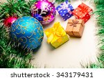 christmas cards christmas toys... | Shutterstock . vector #343179431