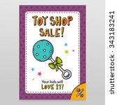 toy shop bright vector sale... | Shutterstock .eps vector #343183241