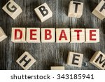 wooden blocks with the text ... | Shutterstock . vector #343185941