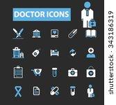 Постер, плакат: doctor clinic icons