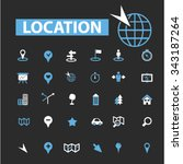 location  map  route  icons ... | Shutterstock .eps vector #343187264