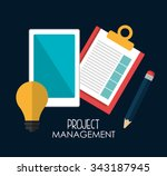 business project management... | Shutterstock .eps vector #343187945