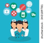 medical healthcare graphic... | Shutterstock .eps vector #343189781